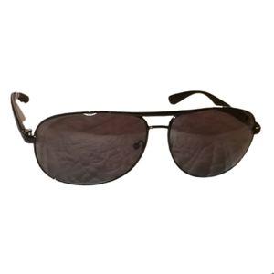 CALVIN KLEIN Black Metal Aviator Sunglasses NT